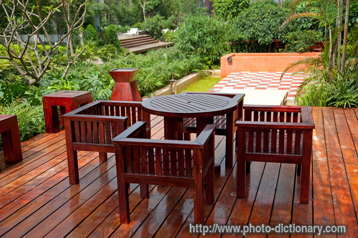 house patio - photo/picture definition at Photo Dictionary - house ...