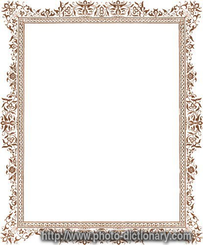 frame - photo/picture definition at Photo Dictionary - frame word ...