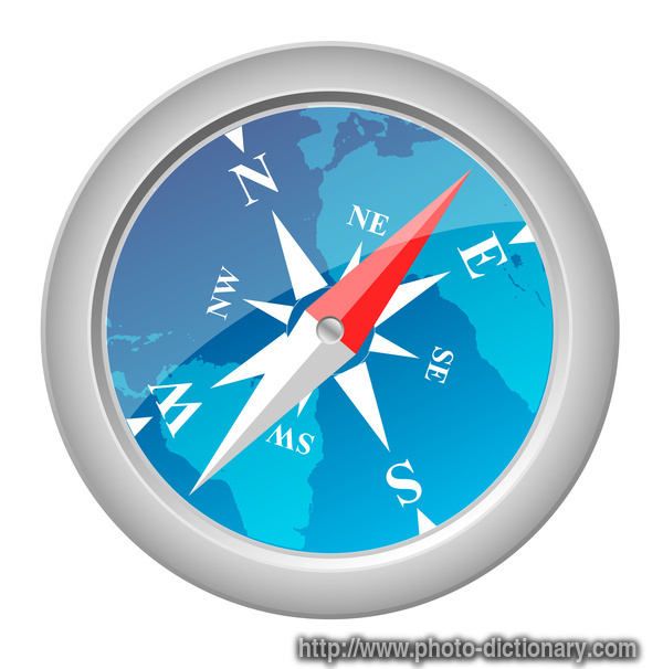compass - photo/picture definition at Photo Dictionary - compass word ...