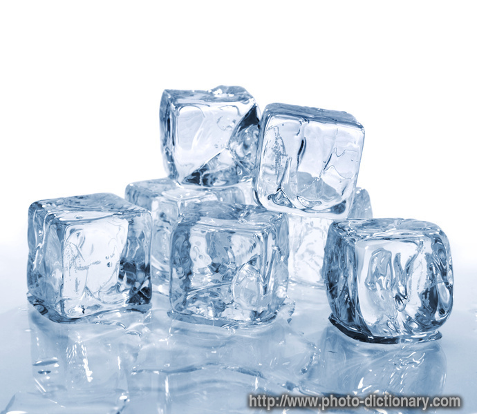 ice cubes - photo/picture definition - ice cubes word and phrase image