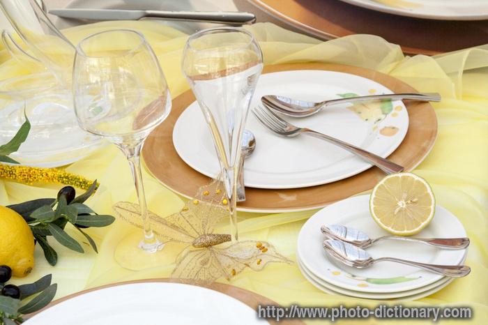 Festive Table   Photo/picture Definition   Festive Table Word And Phrase  Image