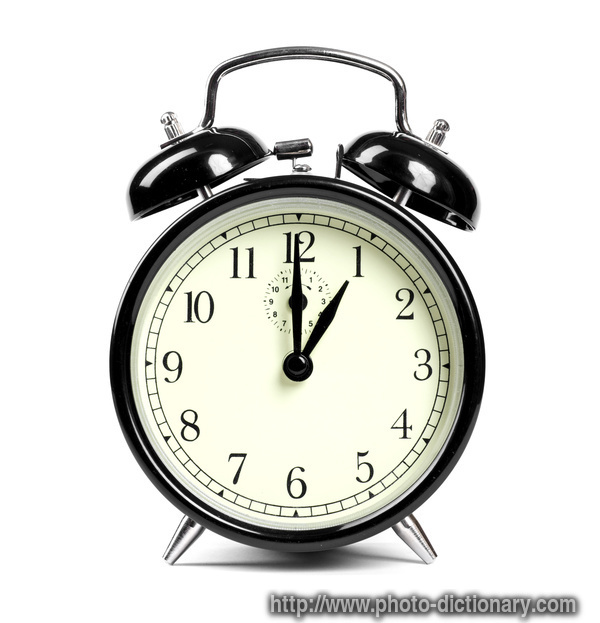 alarm clock - photo/picture definition - alarm clock word and phrase