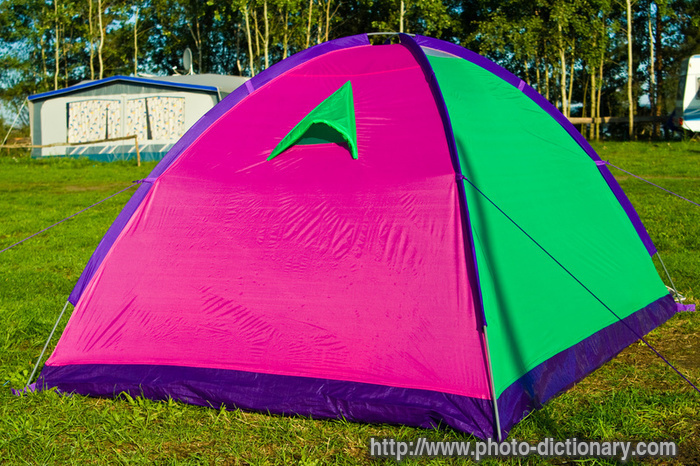 domestic tent - photo/picture definition - domestic tent word and phrase image & domestic tent - photo/picture definition at Photo Dictionary ...