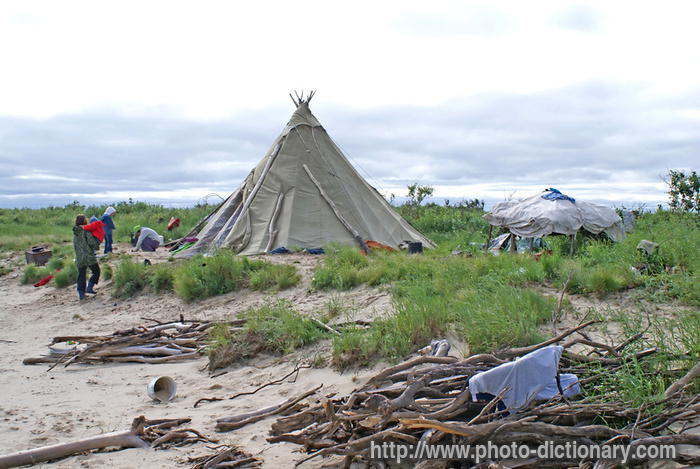 Camping ground photo picture definition at photo for Soil meaning in english