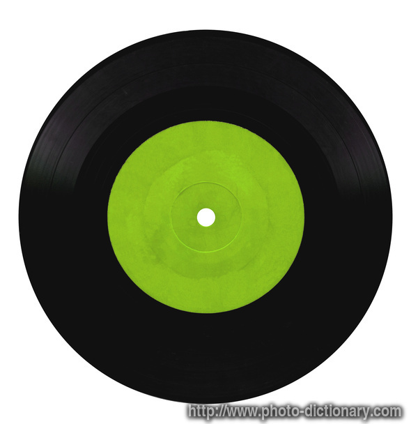 vinyl record  photo/picture definition  vinyl record word and phrase