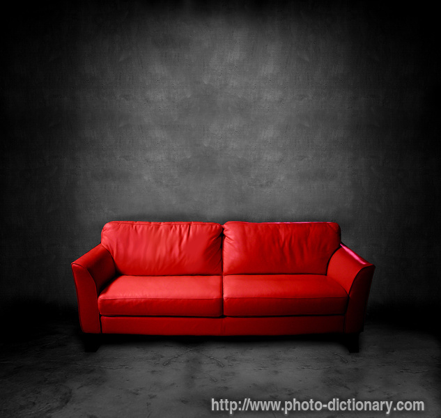 couch photo picture definition at photo dictionary