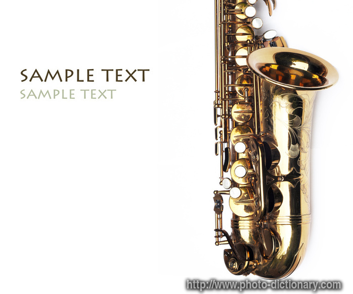 Saxophone photo picture definition at photo dictionary for Terrace meaning in english