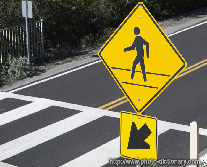 pedestrian crossing - photo/picture definition at Photo ...