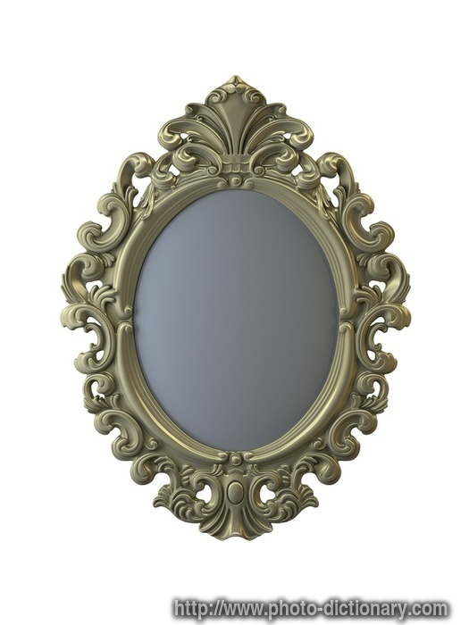 mirror frame photo picture definition at photo