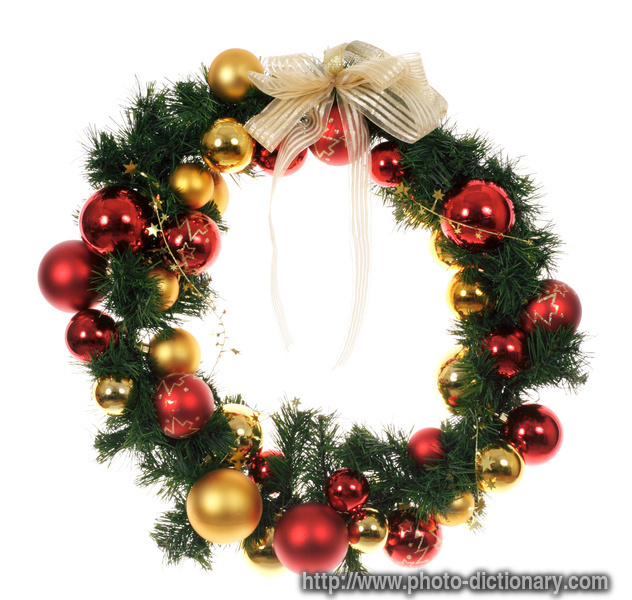 wreath  picture definition at photo dictionary