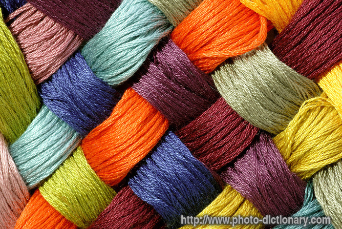tilted cross yarn - photo/picture definition - tilted cross yarn word ...