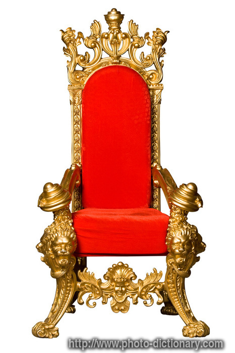 throne - photo/picture definition at Photo Dictionary - throne ...