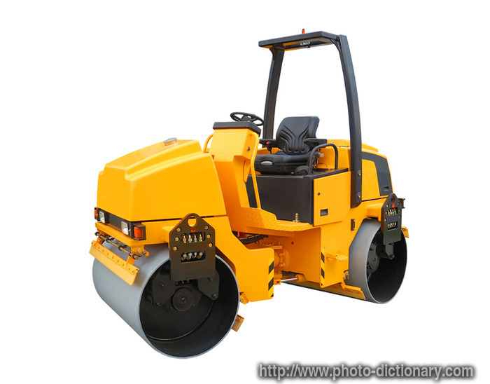 Road Roller Photo Picture Definition At Photo Dictionary