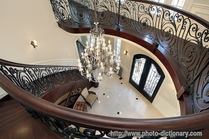 Grand Foyer Definition : Spiral staircase photo picture definition at