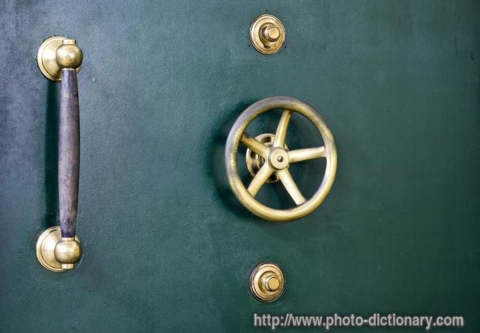 vault door - photo/picture definition - vault door word and phrase image & vault door - photo/picture definition at Photo Dictionary - vault ... Pezcame.Com