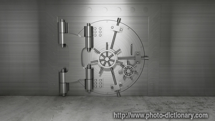 Bank Vault Photo Picture Definition At Photo Dictionary