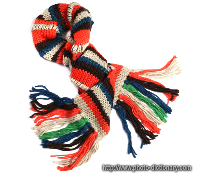 knit scarf photo picture definition at photo dictionary