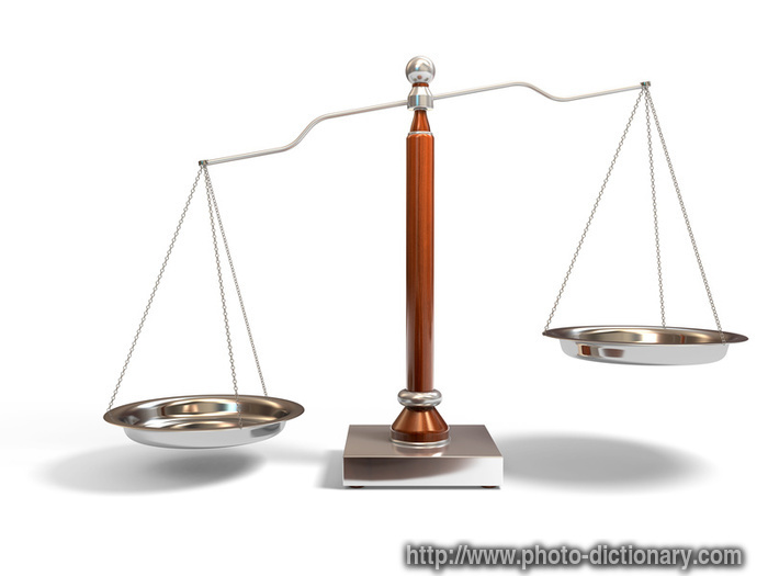 balance scale - photo/picture definition - balance scale word and ...