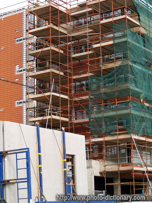 0 Down Car >> scaffold - photo/picture definition at Photo Dictionary - scaffold word and phrase defined by ...