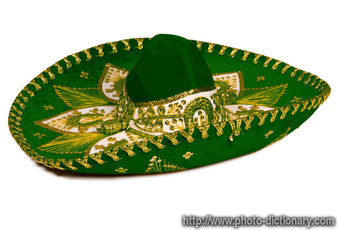 Mexican sombrero - photo/picture definition - Mexican sombrero word ...