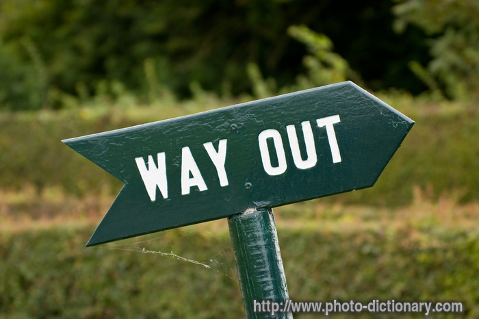 Image result for way out\