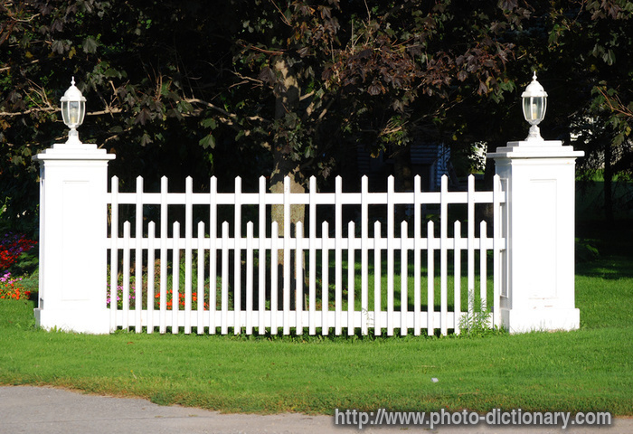 Picket Fence Section Photo Picture Definition At Photo