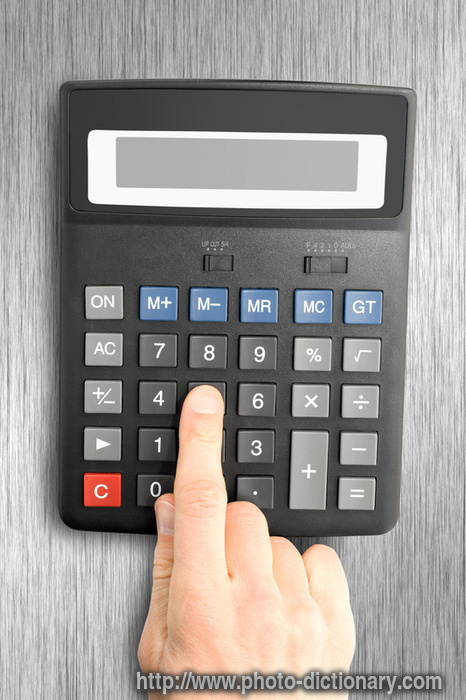 electronic calculator - photo\/picture definition at Photo Dictionary - electronic calculator
