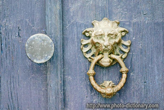 door knocker - photo/picture definition - door knocker word and phrase image & door knocker - photo/picture definition at Photo Dictionary - door ...