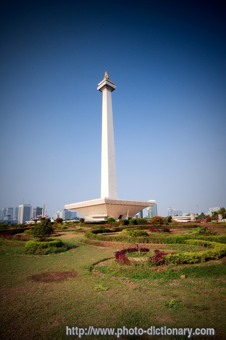 Monas Monument Photo Picture Definition At Photo Dictionary Monas Monument Word And Phrase