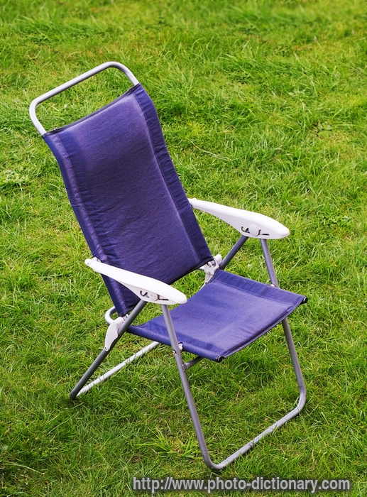 canvas chair photo picture definition at