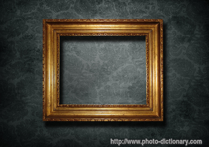 golden frame photopicture definition at photo