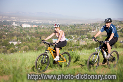 Mountain Biking Photo Picture Definition At Photo Dictionary