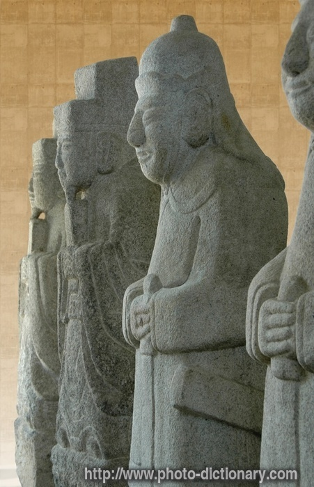Korean ancient sculptures photo picture definition at