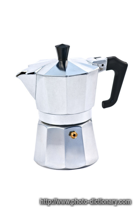 coffee maker - photo/picture definition at Photo Dictionary - coffee maker word and phrase ...
