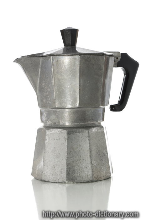 espresso maker - photo/picture definition at Photo Dictionary - espresso maker word and phrase ...