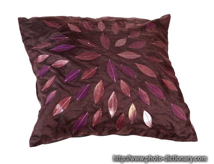 decorative pillow - photo/picture definition at Photo Dictionary - decorative pillow word and ...