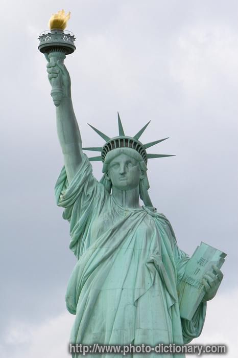the statue of liberty meaning of We will not forget that liberty has here made her home nor shall her chosen altar be neglected —president grover cleveland accepting the statue of liberty.