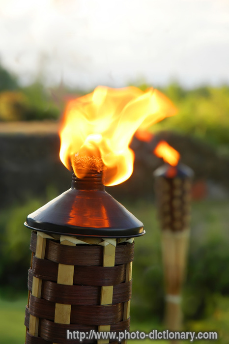 tiki torch  picture definition at photo dictionary