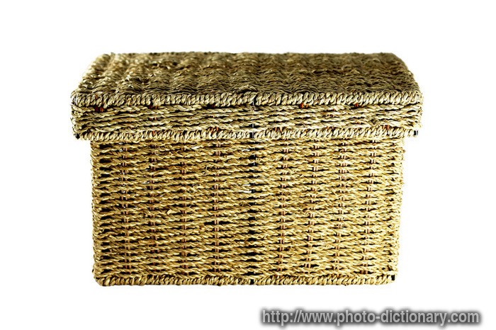 wicker box photo picture definition at photo dictionary