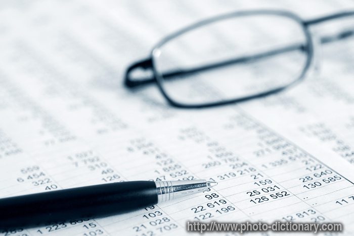 accounting - photo/picture definition at Photo Dictionary