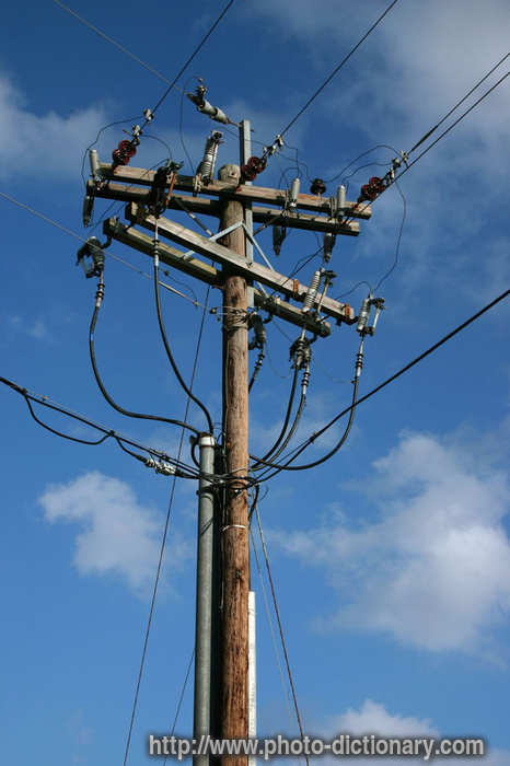 power line - photo/picture definition at Photo Dictionary - power ...