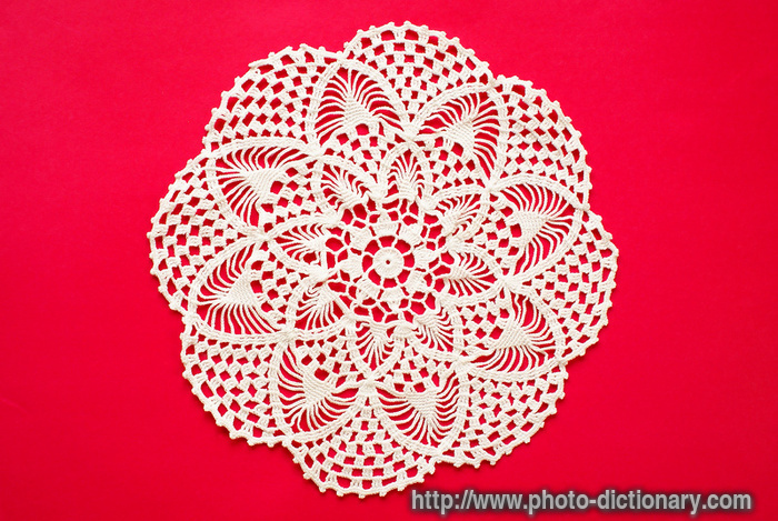 crocheted doily - photo/picture definition - crocheted doily word and ...