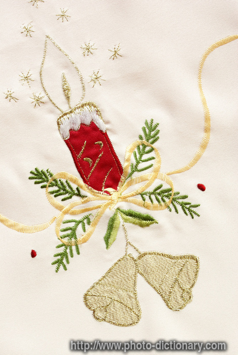 Christmas Embroidery  Photopicture Definition At Photo