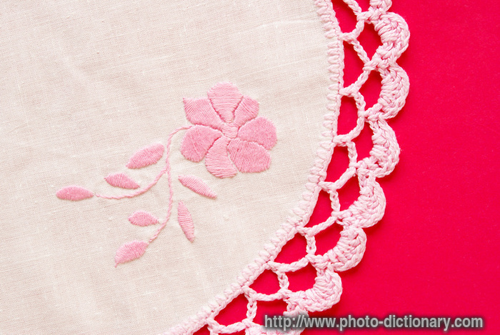 Embroidered Doily  Photopicture Definition At Photo