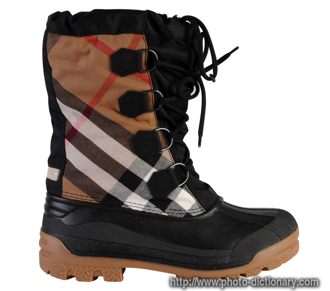 plaid boot photo picture definition at photo dictionary