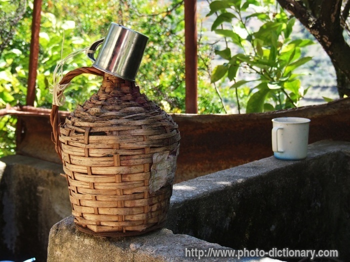 Wicker jug photo picture definition at photo dictionary for Wicker meaning