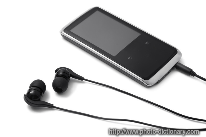 mp3 player - photo/picture definition at Photo Dictionary - mp3