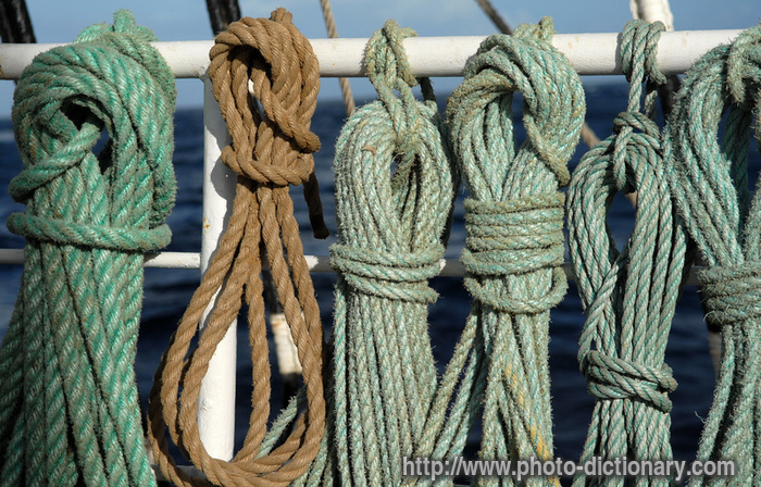 ship rope - photo/picture definition at Photo Dictionary - ship ...