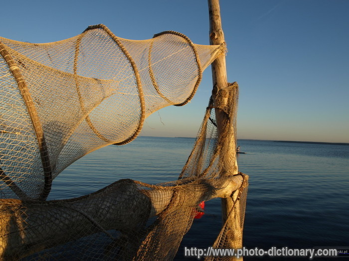 Fishing net photo picture definition at photo dictionary for Fish nets near me