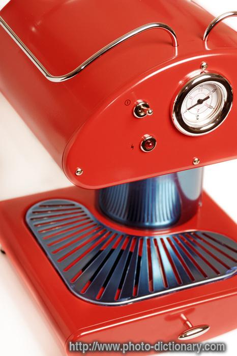 espresso coffee maker - photo/picture definition at Photo Dictionary - espresso coffee maker ...
